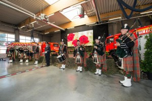 3.Clan Hay Pipe Band at the multi ceremony of  30.00th Last Post in Fire Brigade of EdegemAntwerp