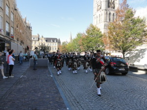 Clans Cortege on the way to Menin Gate