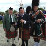 Hank Collins, the Earl of Erroll and Pipe Major Phillippe Vervoort