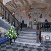 The hall at Duns Castle, where the formal dinner and murder mystery will take place