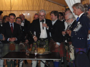 VIP Evening with Toast to the Haggis said by John Wembridge