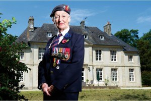 Vera Hay, back in Normandy 70 years on